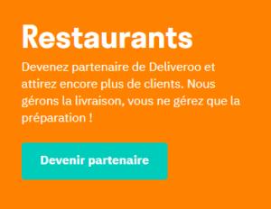 devenez restaurant partenaire chez DELIVEROO