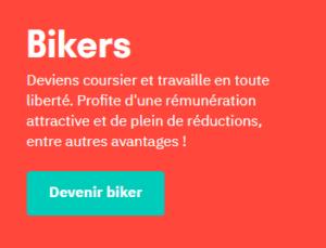 devenir coursier - livreur - biker pour DELIVEROO